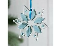 BRAND NEW - Jo Downs HANDMADE glass Christmas decorations