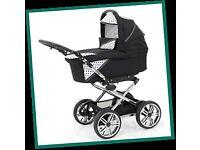 Zing baby pram that turns to stroller.