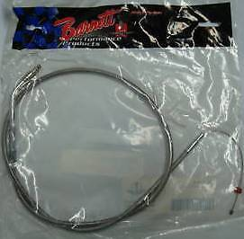 BARNETT STAINLESS STEEL THROTTLE CABLE +6 DS223480 02-07 HARLEY FLHR - I  TOURER