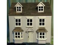 Child's Wooden Doll's House - Quality Wooden Furnishings & People (Really well looked after).
