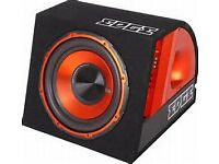"edge 12"" active subwoofer built in amp and wiring kit 900w"