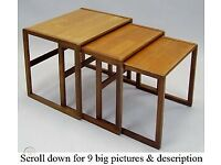 G plan nest of tables teak and rose wood 1960s