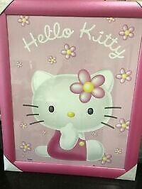 Framed poster sized Hello Kitty picture