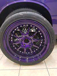 Wicked illusion purple phatfux  ballers 5 x114 trade or will buy