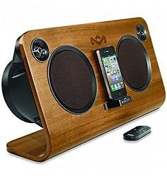 House of Marley IPod dock speaker in Walnut