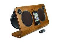 House of Marley IPod dock speaker in Walnut