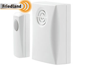 Friedland Wireless Door Bell Plugin Cordless Chime 50m Range Wirefree Ring Bells