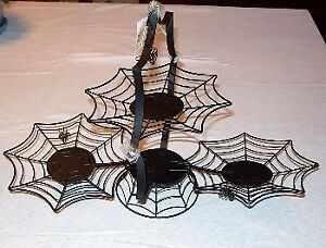 Halloween Decor, Spider Folding Tier Tray NEW