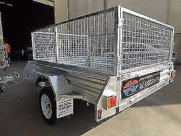 7x5 Cage Trailer with Spare, Tip and Private Registration