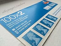 100 x 2ND CLASS STAMPS - SELF-ADHESIVE SHEET BY ROYAL MAIL
