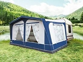 Solaris Sherwood Full Caravan Awning Size 750 Burgundy BRAND NEW STOCK CLEARANCE