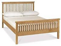 KING SIZE 5FT WOODEN BED WITH MEMORY MATTERESS