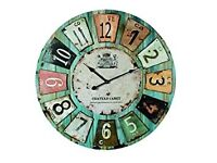 """Wooden Wall Clock Antique Style """"Chateau"""" 60cm Diameter (24 inc"""
