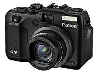 Canon Powershot G12 Digital Camera - damaged screen but still works