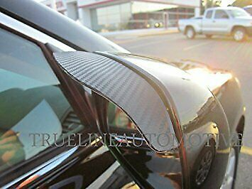 Two Piece Carbon fiber Black Mirror Rain Visor Guard