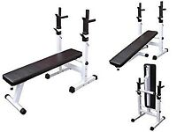 FOLDING BENCH PRESS + 20kg WEIGHTS
