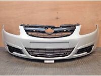 Vauxhall Corsa front bumper with all grills