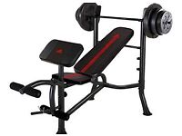 Adidas weight bench and weights