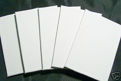 5 MAGNETIC 4x4 small blank fridge Artist Canvas Panels Refrigerator Magnet Art