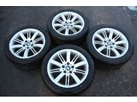 "GENUINE BMW 18"" ALLOY WHEELS WITH PREMIUM TYRES 5/6/7 SERIES"