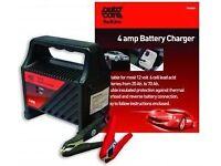 Autocare 4 amp 12v Battery Charger Suitable for 10Ah - 60AH Acid batteries