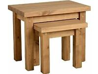 NEW Solid Block Nest of Tables £49