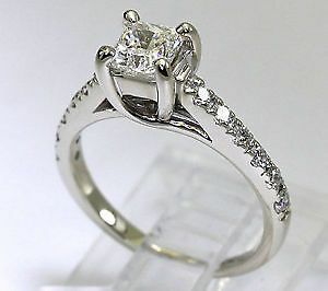 .80 ctw Radiant Cut Diamond Engagement Ring 14kt WG Kitchener / Waterloo Kitchener Area image 3