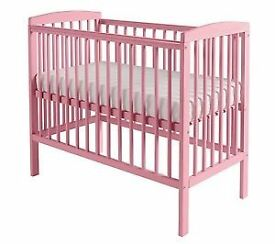 pink brand new cot £50