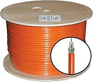 Coaxial Coax RG6 & RG11 Black/Orange Burial Cable - 1,000ft Reel