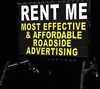 Portable lettering or Graphic Signs for rent or to sell