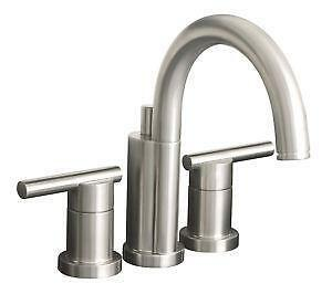 Beau Brushed Nickel Bathroom Faucet Widespreads