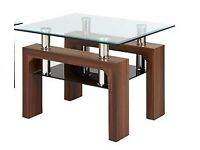Nexus - table lamps, Walnut with Glass top - From DFS