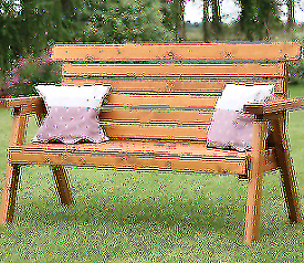 Wooden garden furniture bench rocker picnic table
