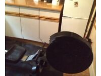 Rowing machine and exercise mat