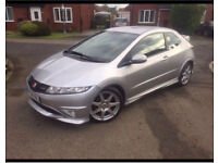 HONDA CIVIC TYPE R GTI V-TEC SILVER 3 DOOR 2008 BARGAIN PX WELCOME £3500