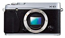Fujifilm X-E1 Digital Camera Body Only - Silver (16MP with APS-C X- Trans CMOS Sensor) 3.0 Inch LCD