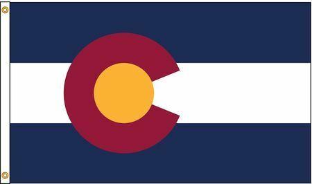 NYLGLO 140680 Colorado Flag,5x8 Ft,Nylon