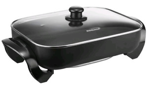 """Brentwood 16"""" Non-Stick Electric Skillet with Glass Lid - SK75"""