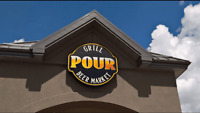 The POUR (Airdrie & Calgary) is hiring Bartenders,Servers,Cooks