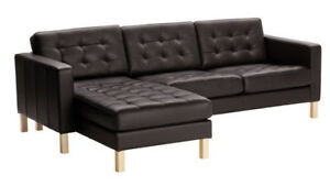 Black Leather Ikea Sectional