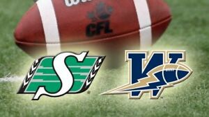 Saskatchewan Roughriders vs. Winnipeg Blue Bombers Tickets