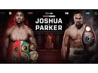 2 X Joshua v Parker - Cardiff. 31st March 18. Lower Tier FACE VALUE