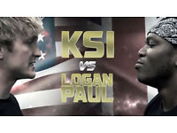 KSI V LOGAN PAUL 2 TICKETS