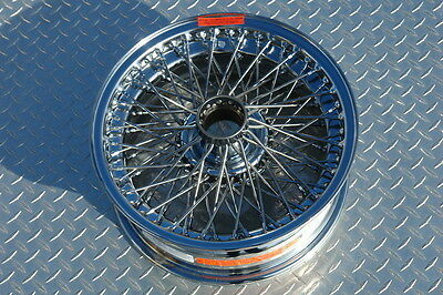 ASTON MARTIN CHROME WIRE WHEEL DB4 DB5 DB6 DAYTON STAINLESS TUBELESS