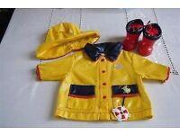 ORIGINAL Baby Born Raincoat & Wellies **BOXED**