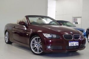2010 BMW 335i E93 MY11 M Sport D-CT Maroon 7 Speed Sports Automatic Dual Clutch Convertible Myaree Melville Area Preview