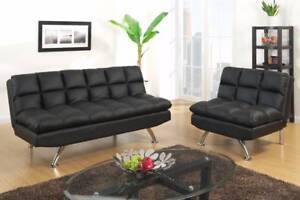 **GUMTREE OFFER**LEATHER LOOK ADJUSTABLE SOFA & CHAIR Bayswater Bayswater Area Preview