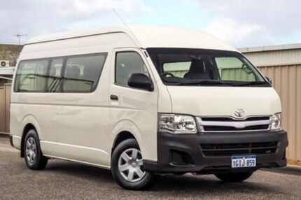 2014 Toyota Hiace TRH223R MY14 Commuter High Roof Super LWB White 4 Speed Automatic Bus
