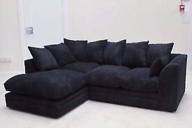 ❤ Buy Now B4 It Ends ❤ 70% Off ❤ New Italian Jumbo Cord Dylan Corner Sofa - Also Avlbl in 3+2 Seater