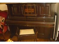 Crane & Sons ltd. Manchester & Liverpool piano and stool